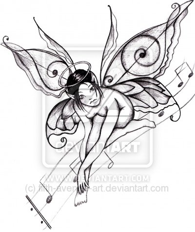 Fairy Tattoos on Gapyak Tattoo  Variations Of Fairy Tattoo Designs