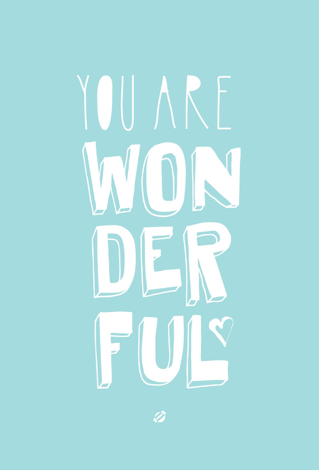 LostBumblebee ©2015 YOU ARE WONDERFUL | Free Printable | Personal Use Only.
