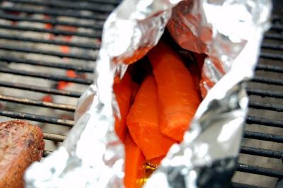 Aluminum Packet of Carrots - Photo by David Yussen