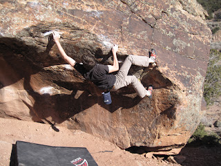 Bouldering in Unaweep Canyon in Colorado