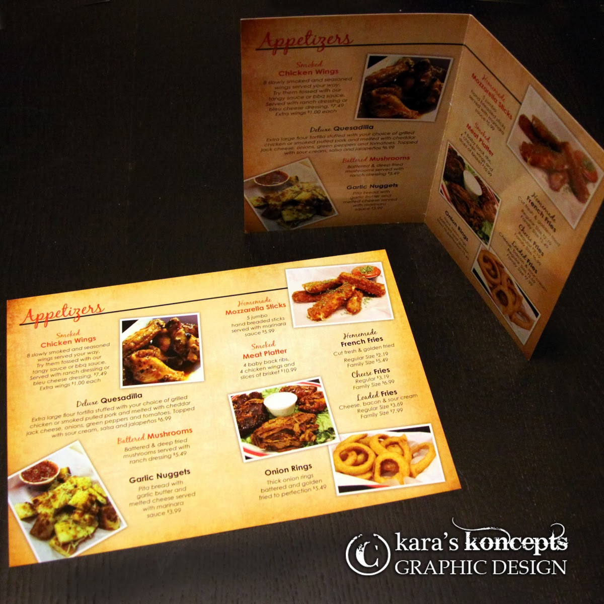 Kara 39 s koncepts graphic design custom wedding for Table menu restaurant