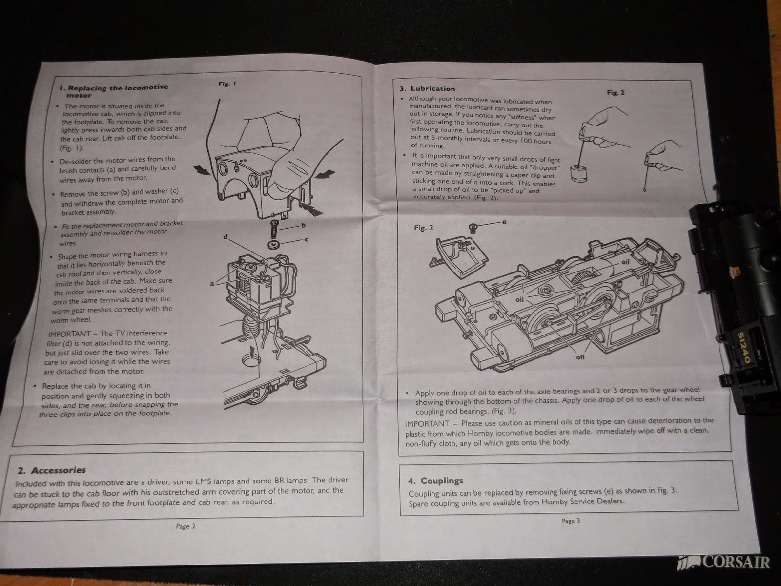 hornby point motor instructions