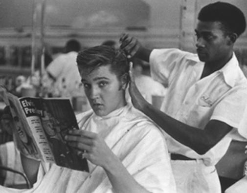 Barber Shop La Quinta : ... masculina: O topete de inspira??o vintage, ? la Elvis Presley