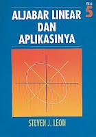 toko buku rahma: buku ALJABAR LINEAR DAN APLIKASINYA, pengarang steven j. leon, penerbit erlangga