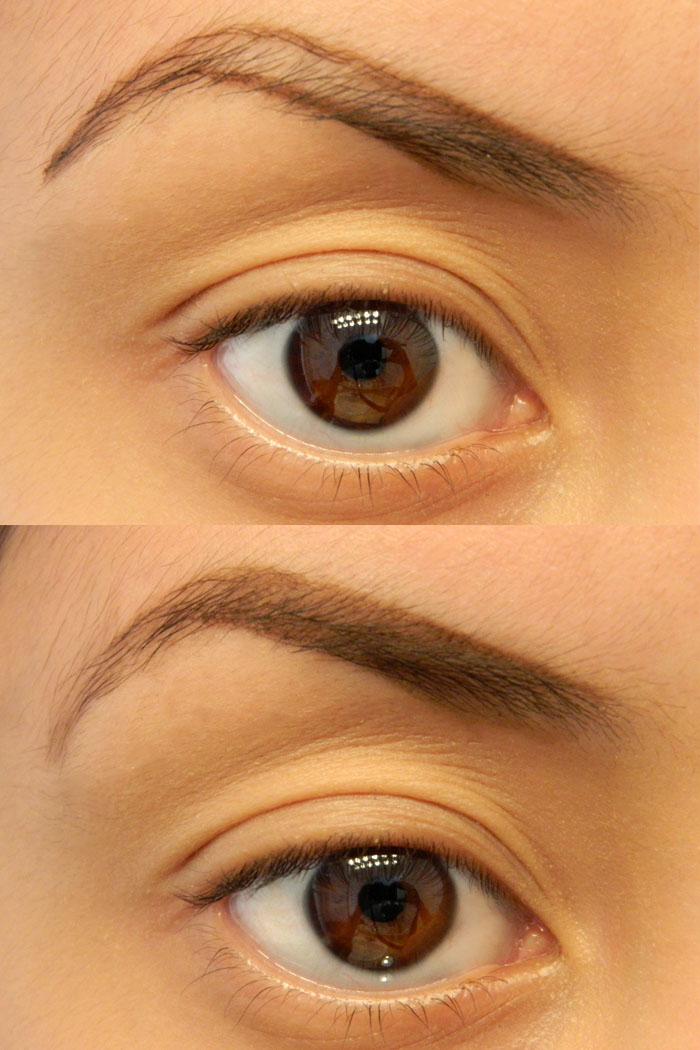 steps on how to draw nice eyebrows