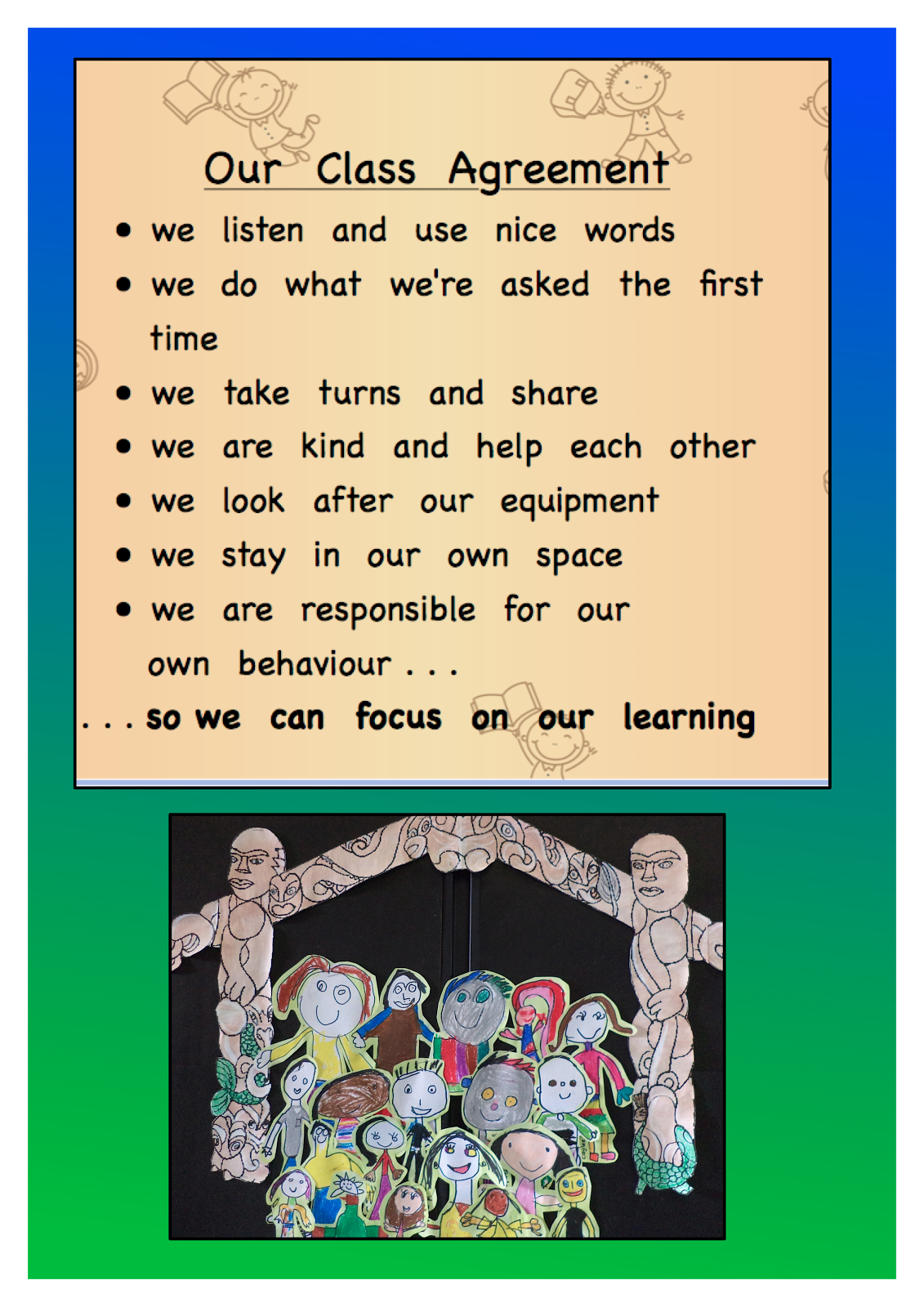Lively Learners Our Class Agreement
