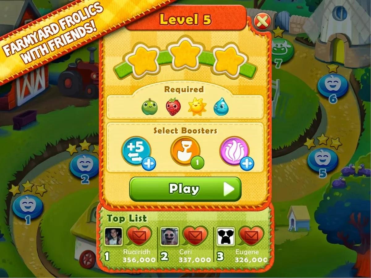 Farm Heroes Saga v2.6.10 Mod [Unlimited Gold Bars & More]