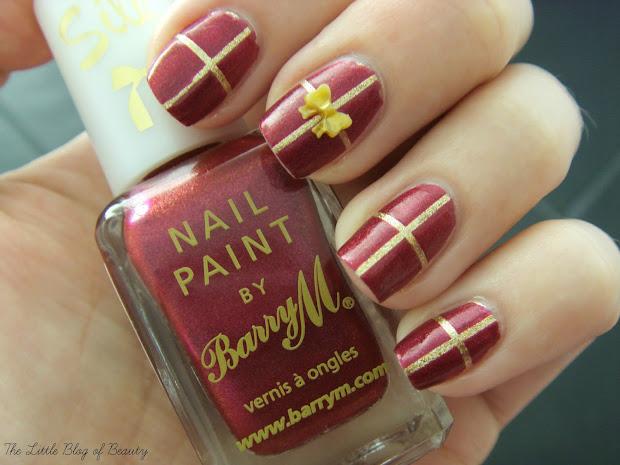 christmas nail art - wrapped