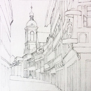 Kurze Strasse with St.Marys Church by Liza Hirst