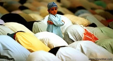 Sweet baby at eid namaz