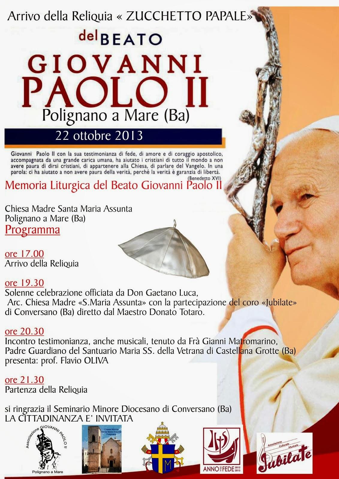 Arrivo della Reliquia Papale