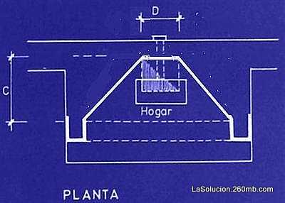 Plano de estufa horno e instalaci n del conducto chimenea - Planos barbacoas de obra ...