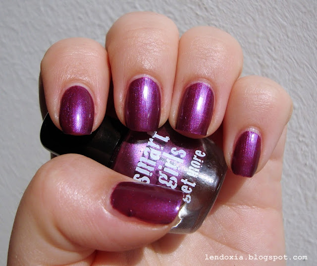 smart girls get more purple nail polish