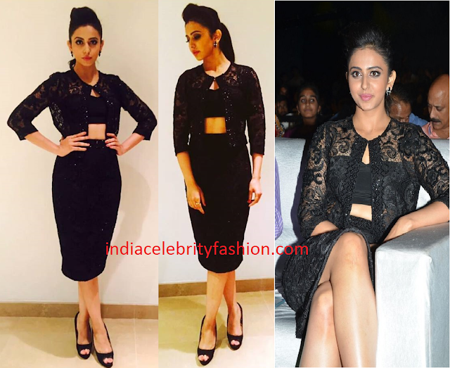 Rakul Preet in Shriya Som Black Dress