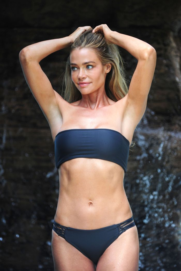 denise richards hot picture, bandeau top bikini