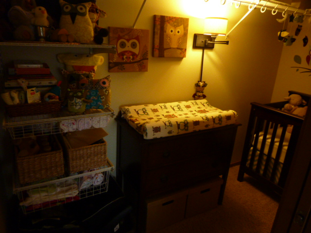 Making Room For Baby Turning A Walk In Closet Into Nursery
