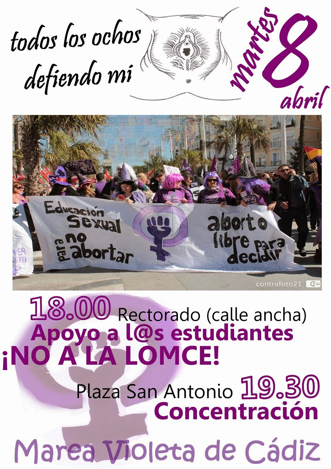 Concentración 8 de abril