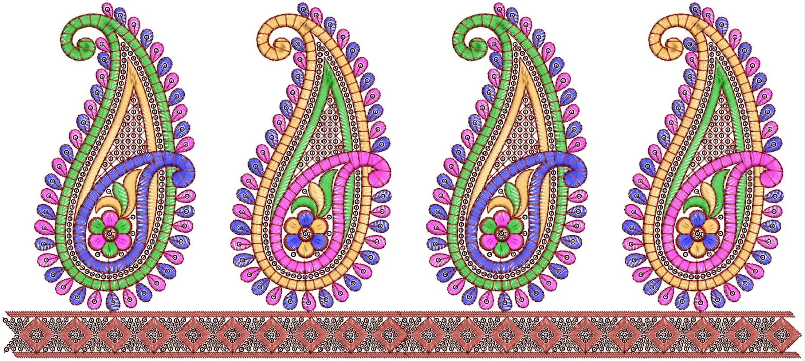 Embdesigntube Foam Embroidered Lace Border For Saree