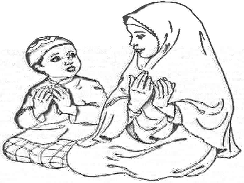 Perlombaan Maulid Ceria: Contoh Gambar Mewarnai Islamic