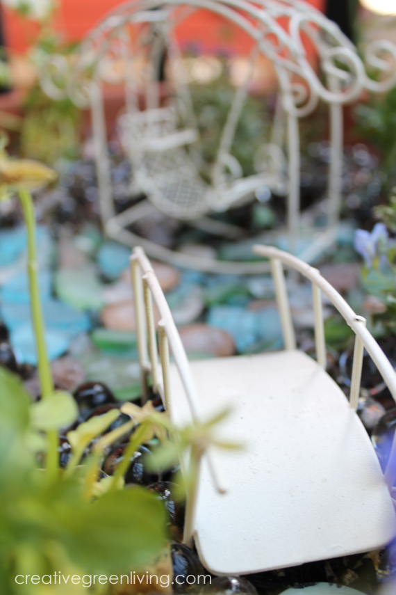 how to make fake water for fairy garden