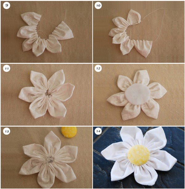 Okajewelry Show Diy Fabric Flower Brooch Tutorial Collection