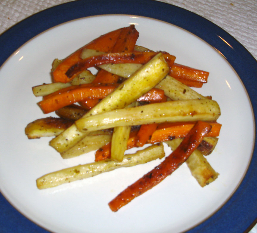 ... Foods: Oven Roasted Parsnips & Carrots with White Balsamic Vinegar