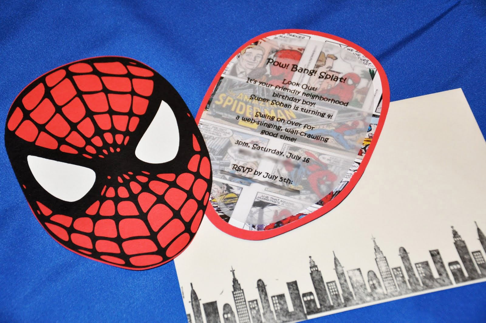 The Party Wall Spiderman Birthday Party Part As Featured - Spiderman birthday invitation maker free