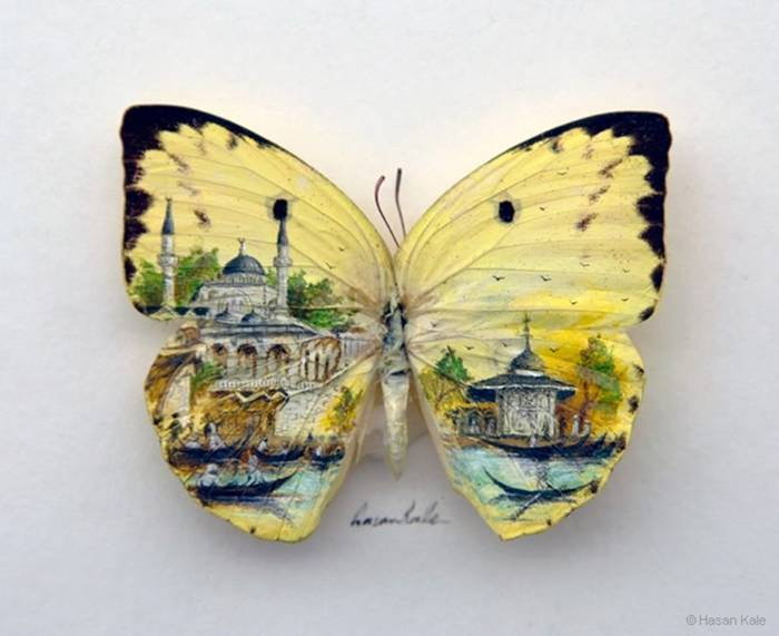 Hasan Kale has produced these tiny little masterpieces, all of which feature his hometown, the landscape of Istanbul.