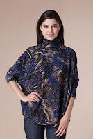 Bluza bleumarin cu imprimeu B305 (Ama Fashion)