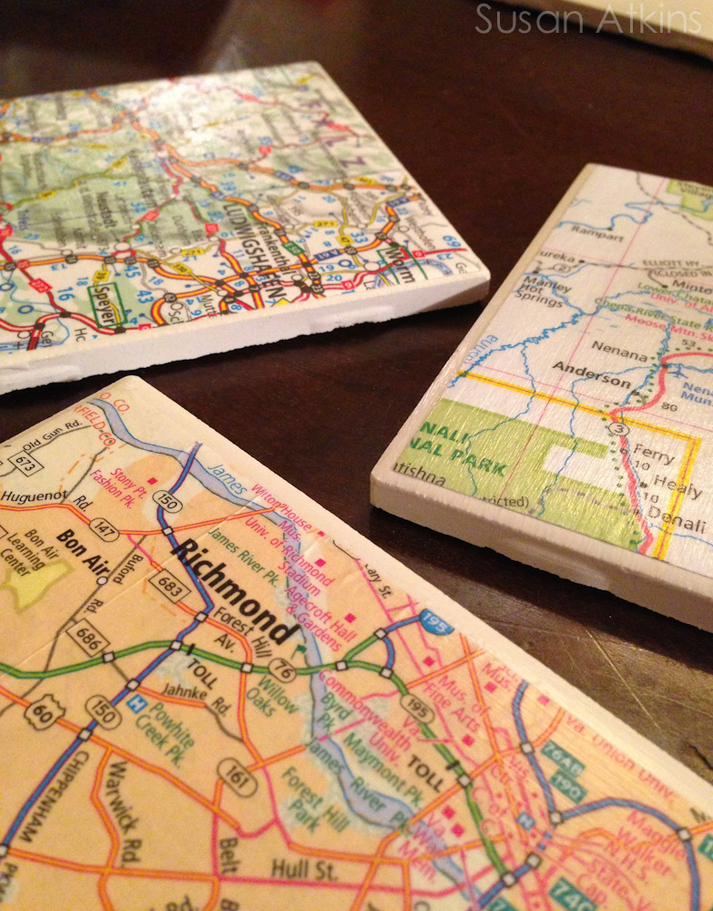 Suze Trades: DIY Map-Inspired Resin Drink Coasters