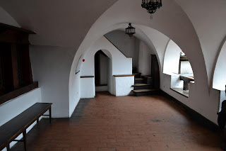 Photos from inside the Castle Bran (Brasov, Transylvania), Loggia