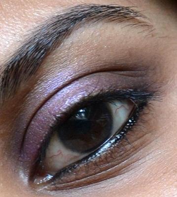 elle18 purple pataka eye sparklers kajal eotd