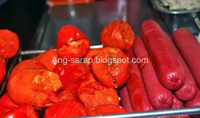 kwek kwek/chicken egg and hotdog