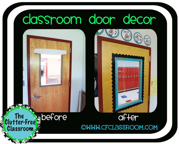 Clutter-Free Classroom: SIMPLE DOOR DECOR {Classroom 360