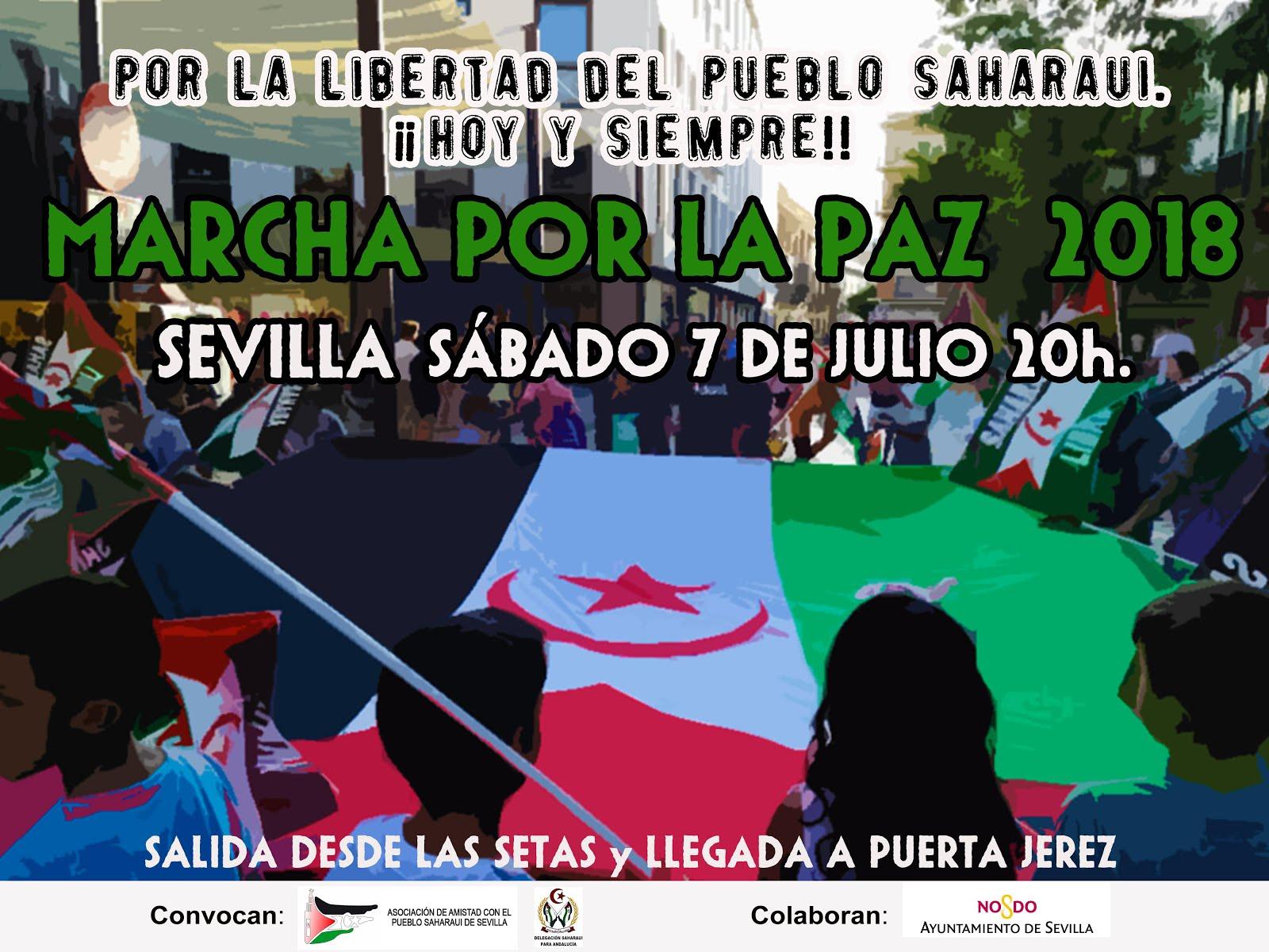 MARCHA POR LA PAZ: POR LA LIBERTAD DEL PUEBLO SAHARAUI. ¡¡HOY Y SIEMPRE!!