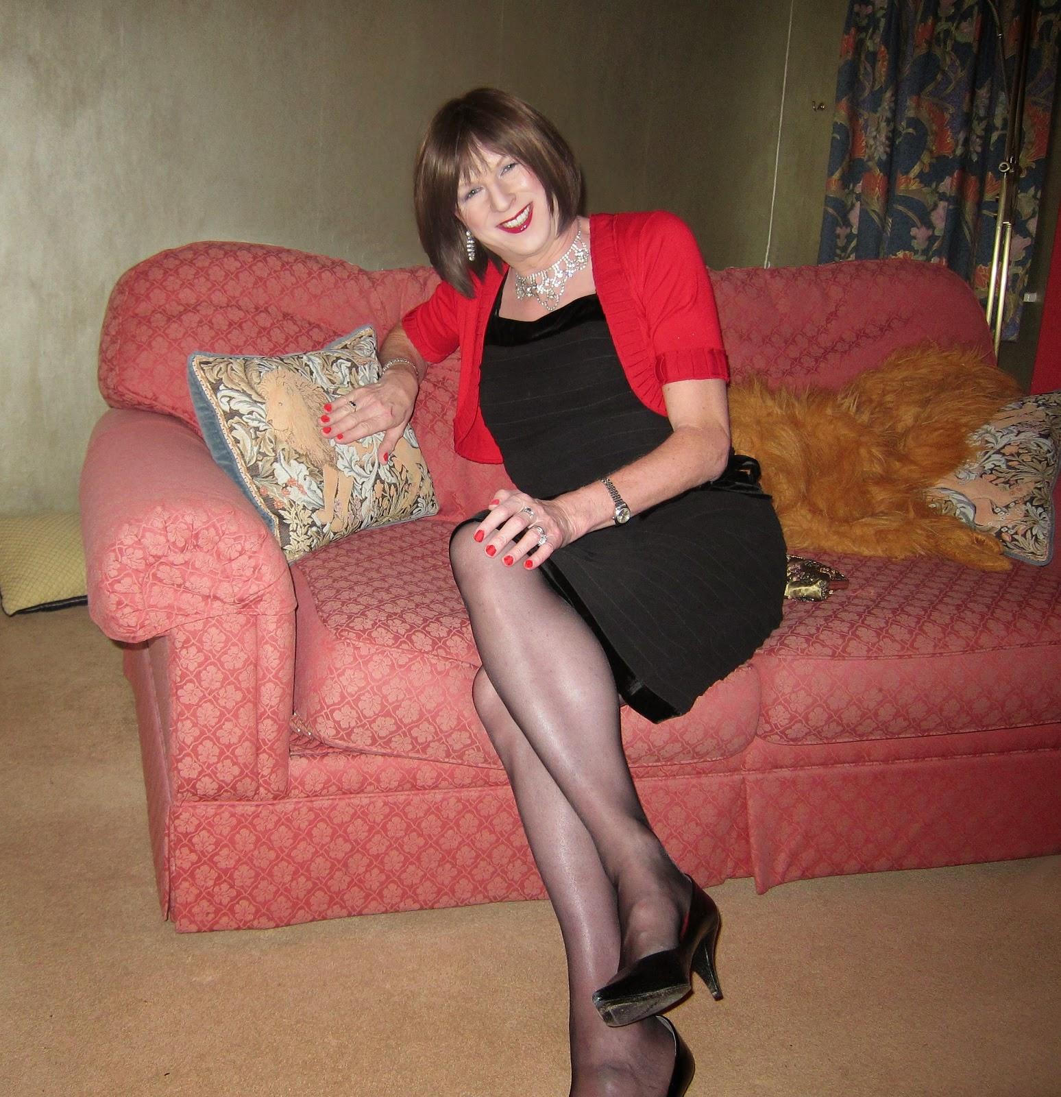 Tgirls on Flickr: Sarah Bell on the Sofa