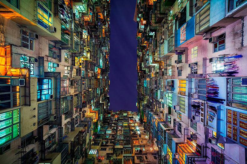 La abrumadora simetría de la arquitectura de Hong Kong capturado por Peter Stewart