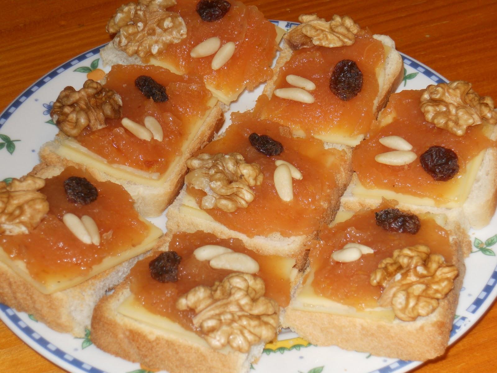 Las recetillas de isa canap s de membrillo y queso - Como hacer un canape ...