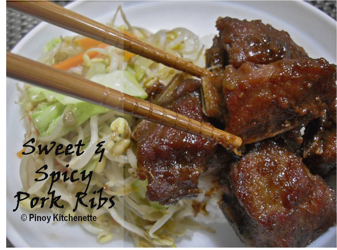 Sweet And Spicy Pork Ribs Korean Style Pinoy Kitchenette