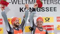 LUGE - Mundial masculino 2016 (Königssee, Alemania): los anfitriones Felix Loch y Arlt-Wendl dominaron