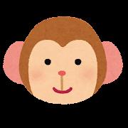 猿の顔のイラスト