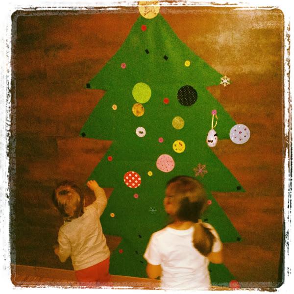 Arbol navidad fieltro aprender manualidades es - Arbol de navidad de fieltro ...