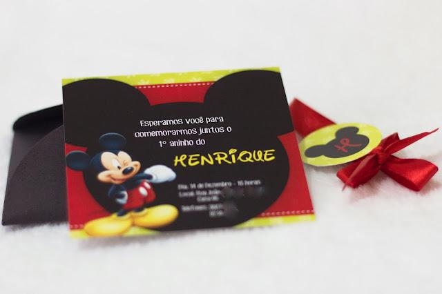 Convite Personalizado Mickey