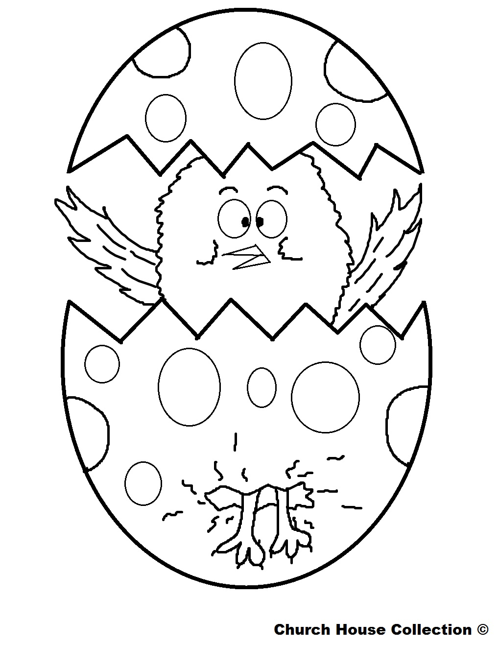 Coloring Pages Easter : Church house collection march