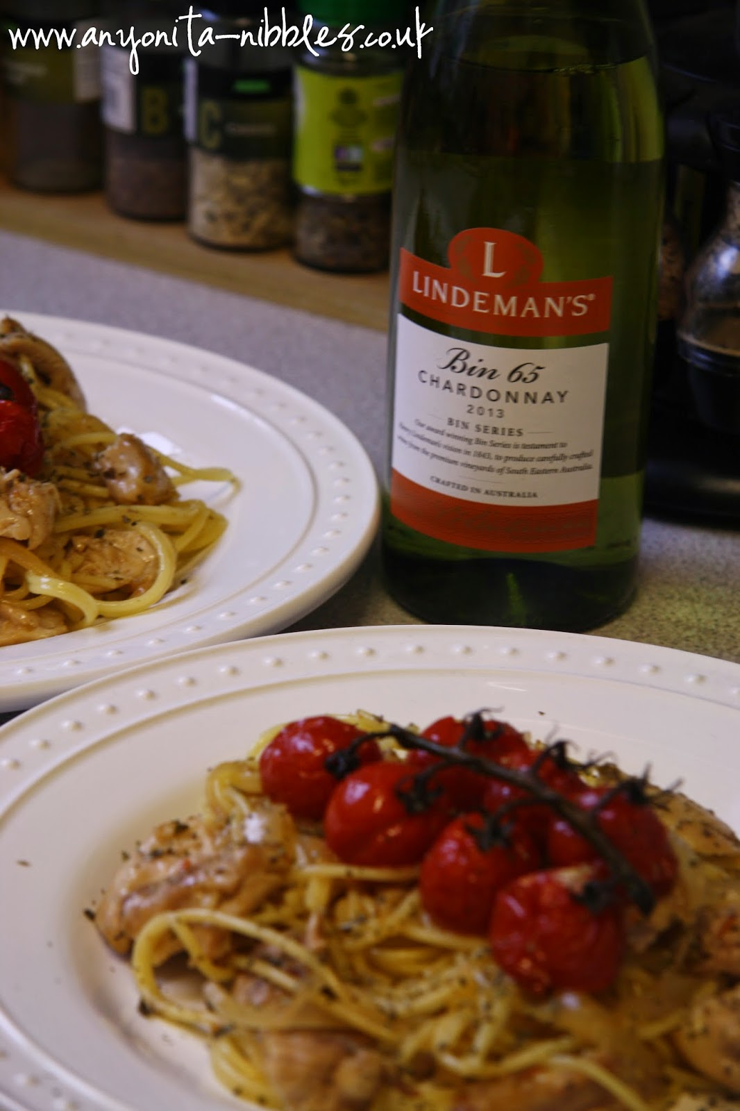 Lindeman's Bin 65 of 2013 Chardonnay pairs well with chicken from www.anyonita-nibbles.co.uk