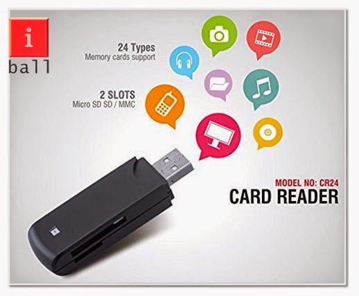 Iball CR24 Card Reader Support 24 Card Price, Specification & Review
