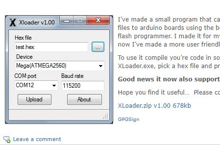Xloader arduino uno download