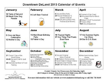 Mainstreet DeLand Calendar of Events