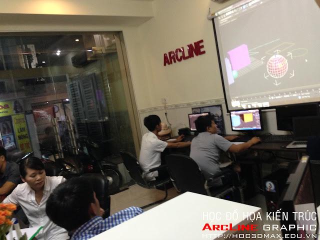 Lop hoc 3D Max chuyen dien hoa Kien truc tai ArcLine 04