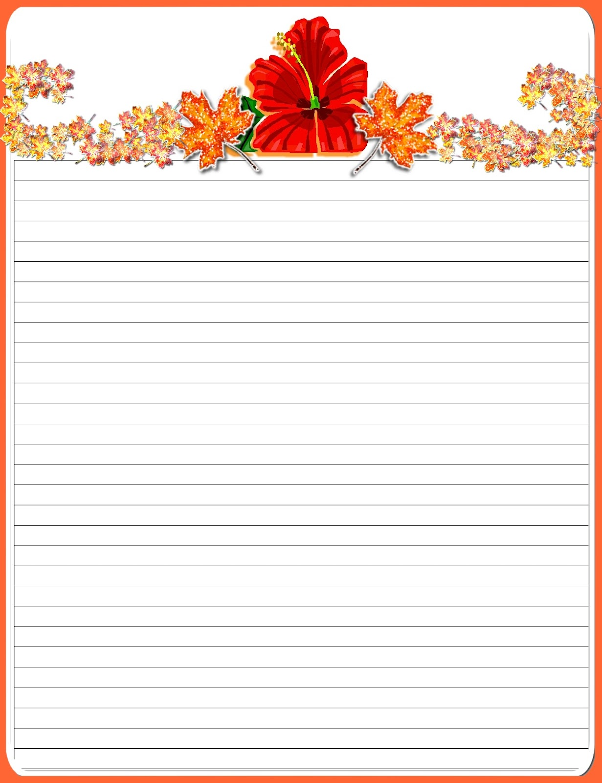 Printable Stationery Free Lined Kids Writing Paper For Boys Pictures